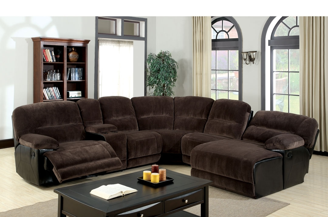 Well Liked Impressive Sofa Sectional With Recliner And Plushemisphere Sofas Throughout Sectionals With Chaise And Recliner (View 14 of 15)