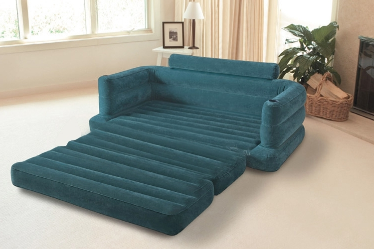 Well Liked Intex Inflatable Pull Out Sofa Mattress Sleeper, Queen 68566Ep Within Pull Out Sofa Chairs (View 10 of 10)
