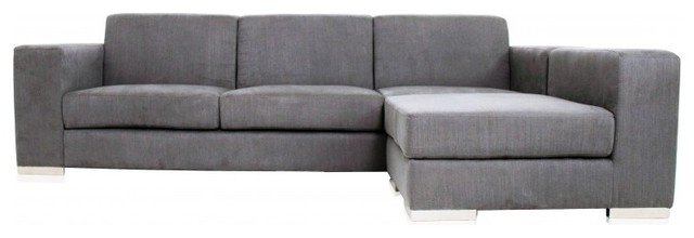 Well Liked Long Modern Sofas With Regard To Long Modern Sofa Long Island Sectional Sofa Grey Fabric Modern (View 8 of 10)