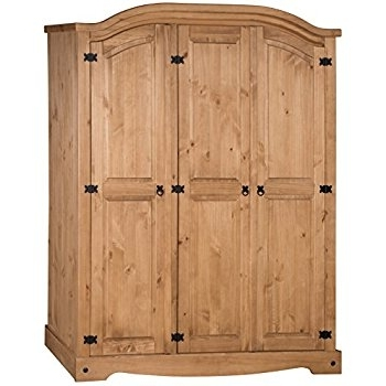 Well Liked Mercers Furniture Corona 3 Door Arch Top Wardrobe: Amazon.co (View 13 of 15)