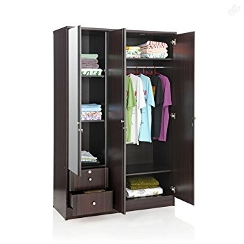 Well Liked Royal Oak Berlin Three Door Wardrobe With Mirror (Brown): Amazon With Three Door Wardrobes With Mirror (View 15 of 15)