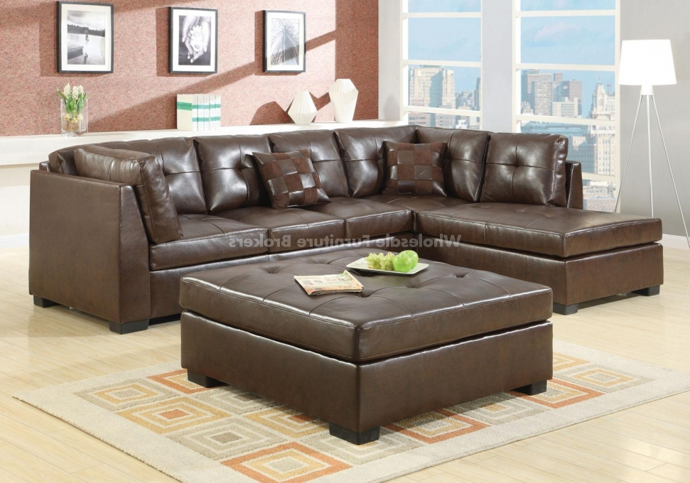 Well Liked Sectional Sofa Design: Elegant Sectional Sofas Chaise Chaise Pertaining To Brown Leather Sectionals With Chaise (View 13 of 15)