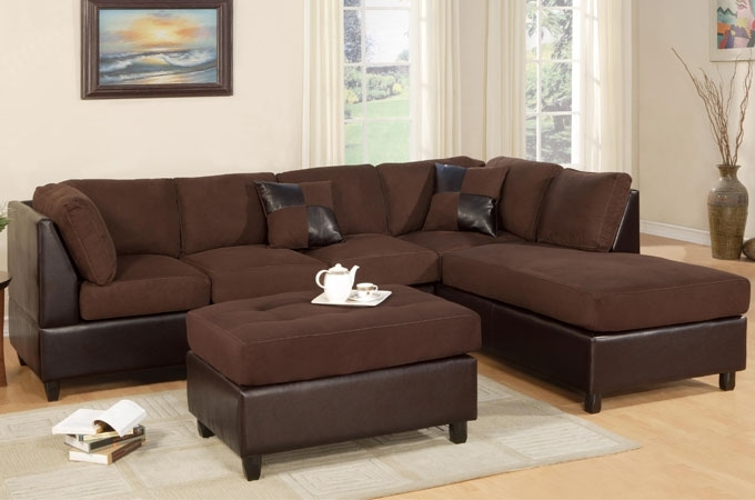 Well Liked Sectional Sofa Design: Simple Reversible Sectional Sofa Chaise With Regard To Brown Sectionals With Chaise (View 15 of 15)