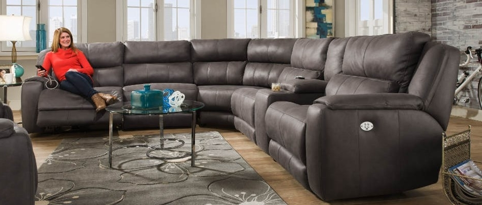 Well Liked Southern Motion Reclining Sofa Cagney Doublefurniture 2 In Motion Sectional Sofas (View 2 of 10)