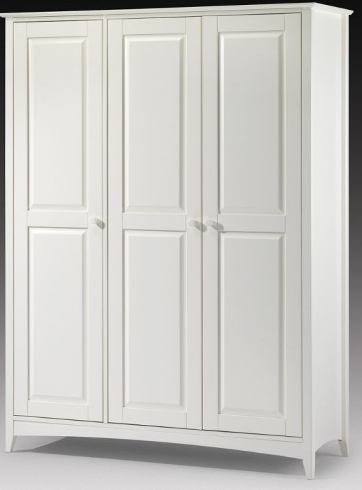 Well Liked Stone White Cameo Wardrobe – Three Wardrobes To Choose From Regarding 3 Door White Wardrobes (View 13 of 15)