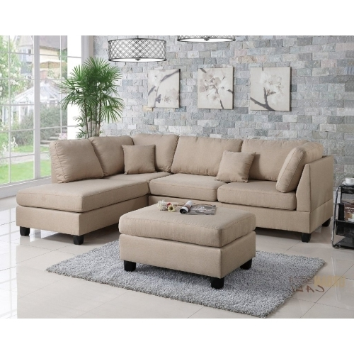 Well Liked Urban Cali San Francisco Sand Linen Sectional Sofa With Reversible Throughout San Francisco Sectional Sofas (View 10 of 10)