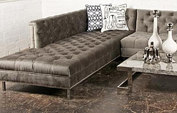Well Liked Velvet Sectional Sofas For Charcoal Velvet Hollywood Sectional 9Ft X 8Ft (Chaise) X 36 Inches (View 9 of 10)