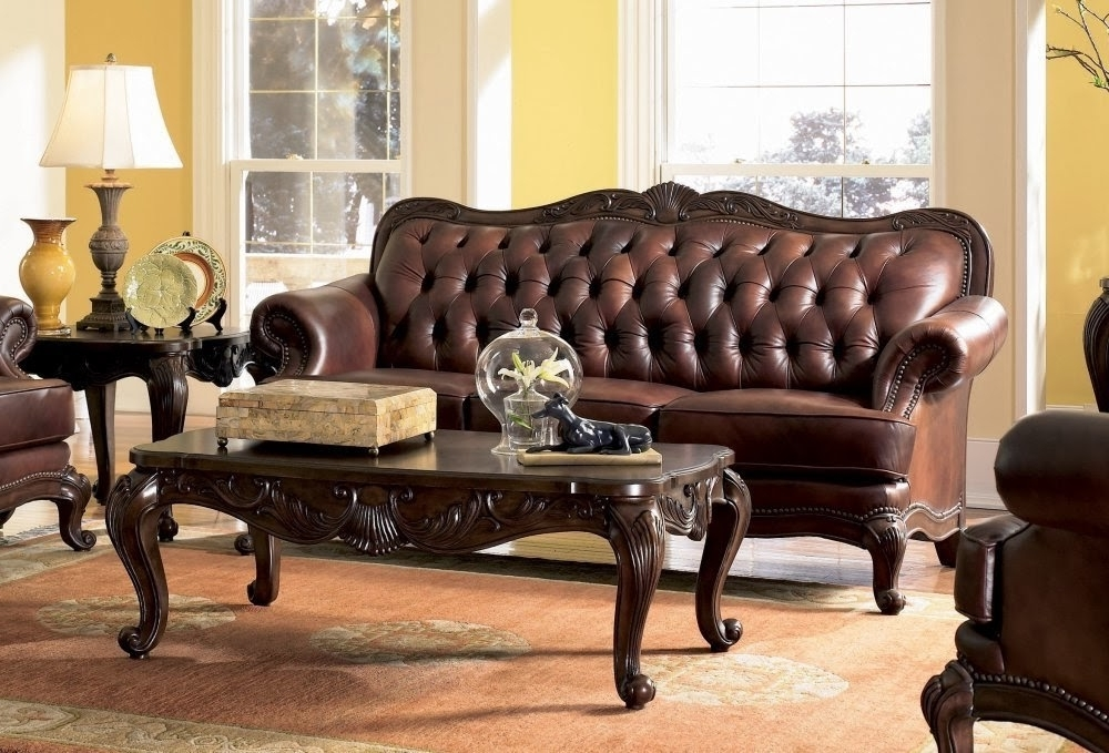Well Liked Victorian Leather Sofas With Regard To Antique Victorian Sofa  Set: Victorian Leather Sofa