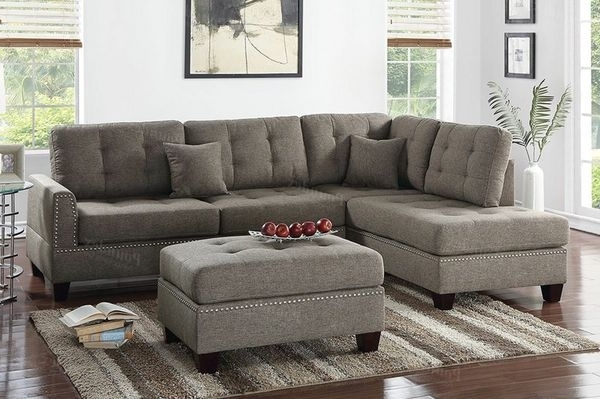 Well Liked Visalia Ca Sectional Sofas For Grey Sectional With Ottoman (furniture) In Visalia, Ca – Offerup (View 2 of 10)