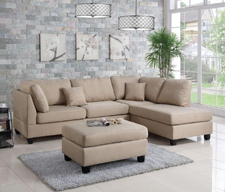 Well Liked Wayfair, Ifin1021, Amazon, Poundex, F7605, Sectional, Sand Beige In Wayfair Sectional Sofas (View 10 of 10)