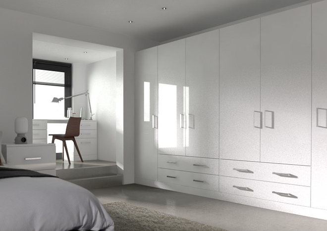 Well Liked White Bedroom Wardrobes With Regard To Lewes High Gloss White Bedroom Doors From £4.16 Made To Measure (View 14 of 15)