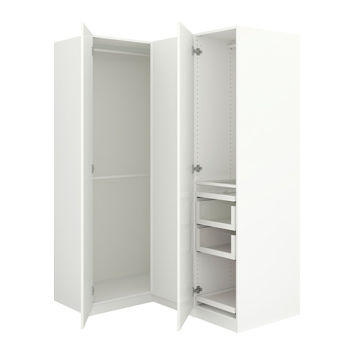 "Well Liked White Gloss Corner Wardrobes With Pax Corner Wardrobe – 63 1/8/43 1/2X79 1/4 "" – Ikea (View 9 of 15)"