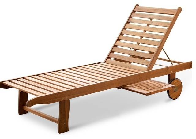 Well Liked Wood Chaise Lounges Intended For Impressive Wooden Chaise Lounge Wood Outdoor Single Chaise Lounge (View 4 of 15)