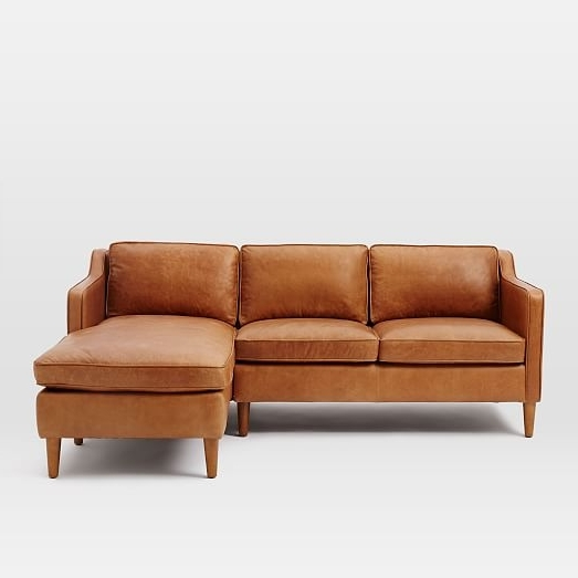 West Elm Intended For Leather Chaise Sectionals (View 15 of 15)
