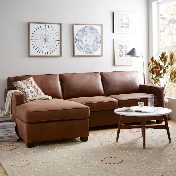 West Elm Throughout Leather Sofa Chaises (View 14 of 15)