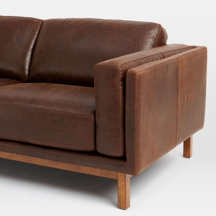 West Elm With Aniline Leather Sofas (View 10 of 10)