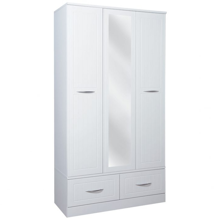 White 3 Door Wardrobe With Drawers Sliding Uk Children's Childs In Fashionable 3 Door White Wardrobes With Drawers (View 13 of 15)