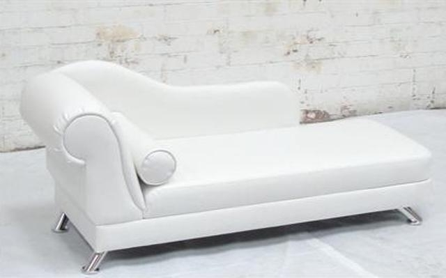 White Chaise Lounge Chairs Regarding Trendy Captivating White Leather Chaise Lounge White Leather Chaise (View 15 of 15)