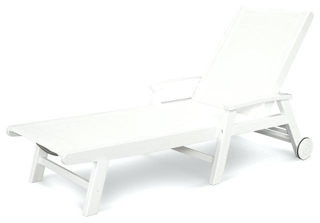 White Chaise Lounges Intended For Most Popular Chaise Lounge White White Chaise Chair Best Chaise Lounge Chairs (View 15 of 15)