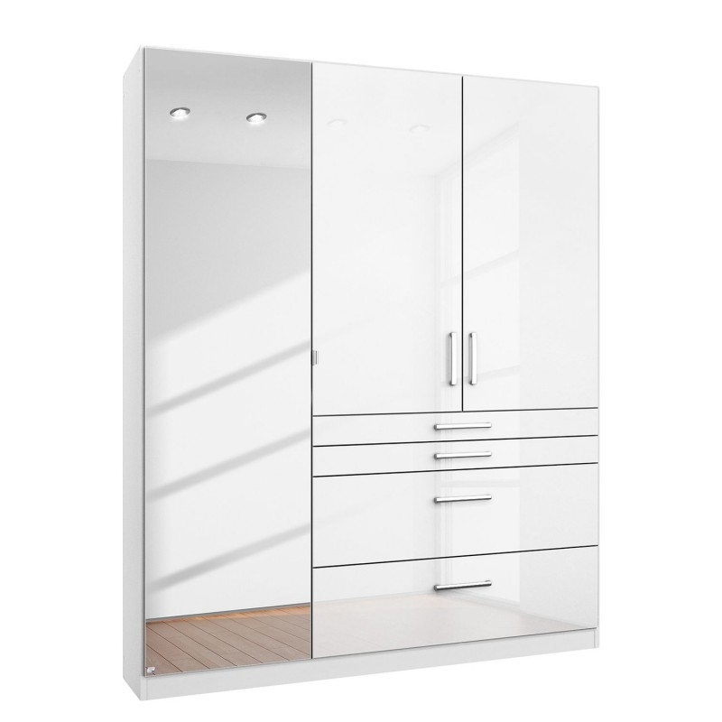 White Cheap Wardrobes Regarding Best And Newest High Gloss White Free Standing Wardrobes On Sale Cheap (View 8 of 15)
