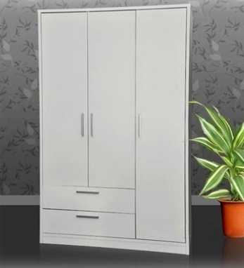White Cheap Wardrobes With Trendy Cheap 3 Doors Wardrobe With Shelves In Sydney Furniture Warehouse (View 12 of 15)
