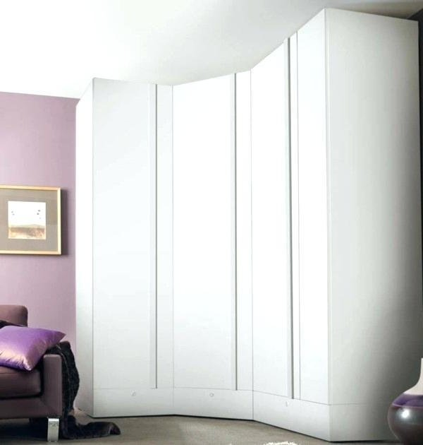 White Corner Wardrobes For Famous Corner Wardrobe White Mirror Corner Wardrobes High Gloss White (View 14 of 15)