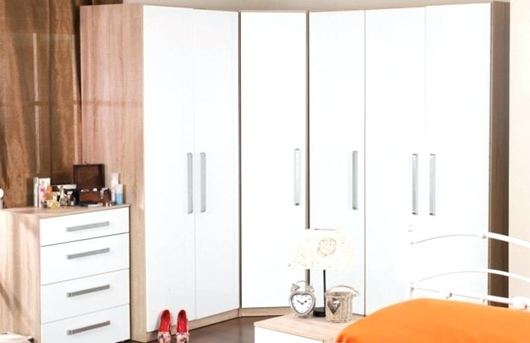 White Corner Wardrobes For Newest Corner Wardrobes High Gloss White Corner Wardrobe Malta Wenge Ikea (View 12 of 15)