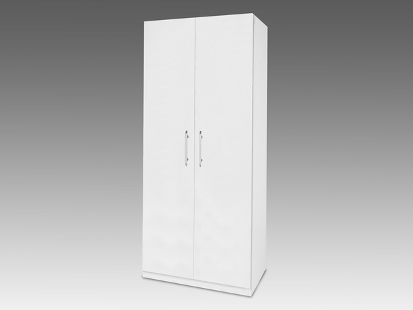 White Double Wardrobes With Famous Ideal Products Flat Packed Angel White High Gloss 2 Door Double (View 15 of 15)