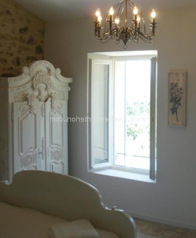 White French Armoire Wardrobes With Regard To Well Known French Armoire  Wardrobe In Antique White (