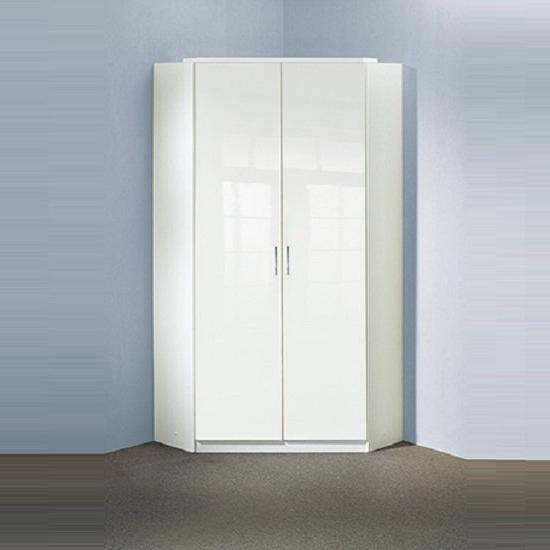 Featured Photo of White Gloss Corner Wardrobes