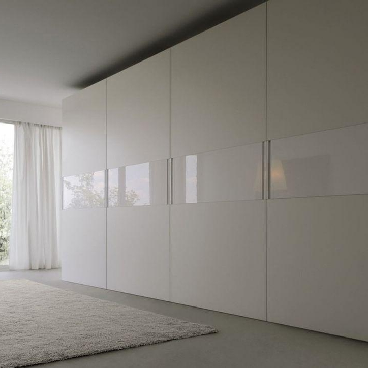 White Gloss Sliding Wardrobes Within Trendy White Gloss Sliding Door Wardrobe – Logo (View 13 of 15)
