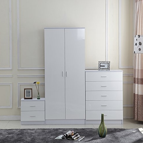 Featured Photo of White Gloss Wardrobes Sets