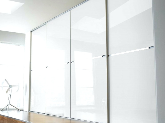 White High Gloss Sliding Wardrobes Regarding Well Known Wardrobes ~ White High Gloss Sliding Wardrobe Doors Uk Cream High (View 12 of 15)