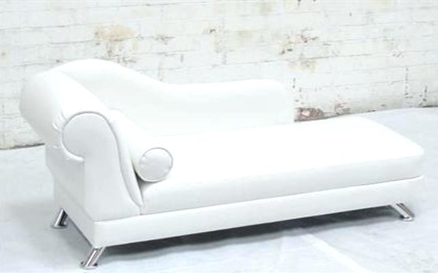 White Leather Chaises Throughout Most Popular Retro Leather Chaise Lounge Retro Chaise Lounge Covers Waterproof (View 13 of 15)