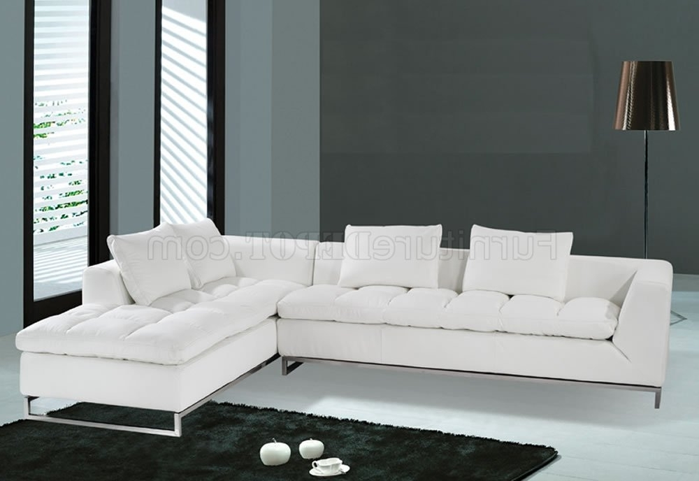 White Modern Couch F32 Sectional Sofa White Leather Model F 32 Regarding Most Up To Date White Modern Sofas (View 7 of 10)