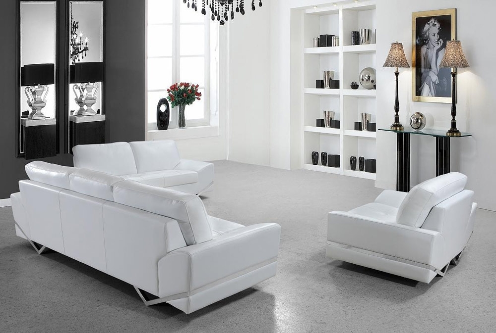 White Modern Sofas Inside Trendy White Modern Sofa – Crimson Waterpolo (View 9 of 10)