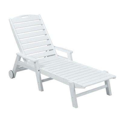 White Outdoor Chaise Lounge Chairs For Most Up To Date White – Outdoor Chaise Lounges – Patio Chairs – The Home Depot (View 11 of 15)