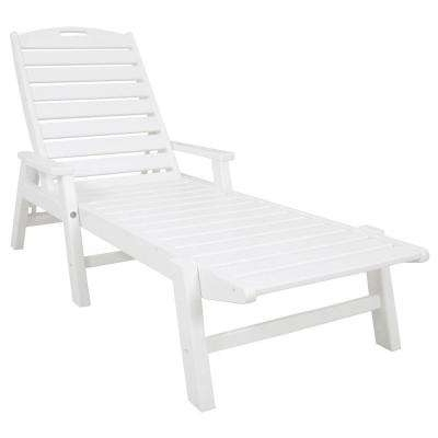 White Outdoor Chaise Lounge Chairs Intended For Recent White – Stackable – Outdoor Chaise Lounges – Patio Chairs – The (View 12 of 15)