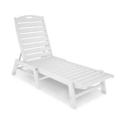 White Outdoor Chaise Lounge Chairs With Regard To Most Popular Plastic Patio Furniture – White – Outdoor Chaise Lounges – Patio (View 13 of 15)