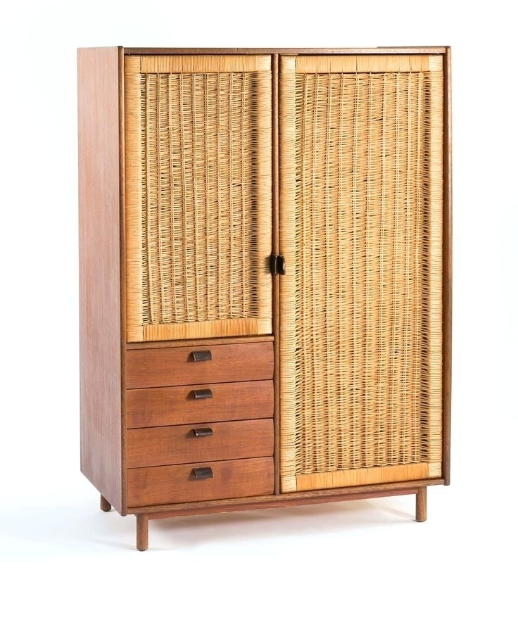 White Rattan Wardrobes Inside Favorite Wardrobes ~ White Wicker Armoire Wardrobe White Wicker Wardrobe (View 10 of 15)