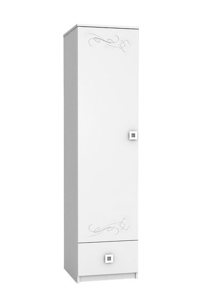 White Tattoo – Children's Single Door Wardrobe Intended For Trendy White Single Door Wardrobes (View 4 of 15)