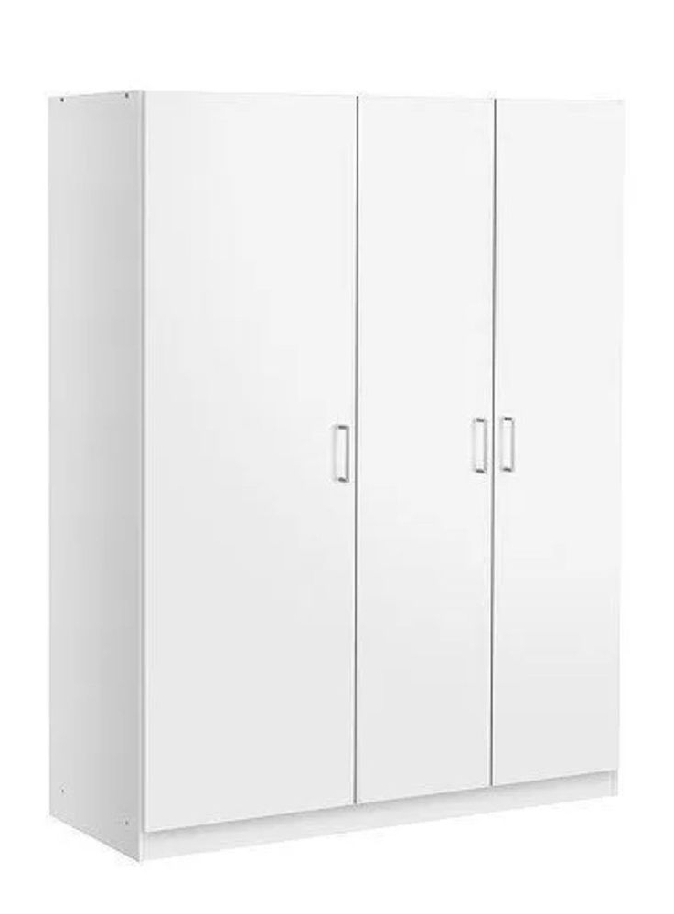 White Three Door Wardrobes Pertaining To 2018 3 Door Wardrobe (View 11 of 15)