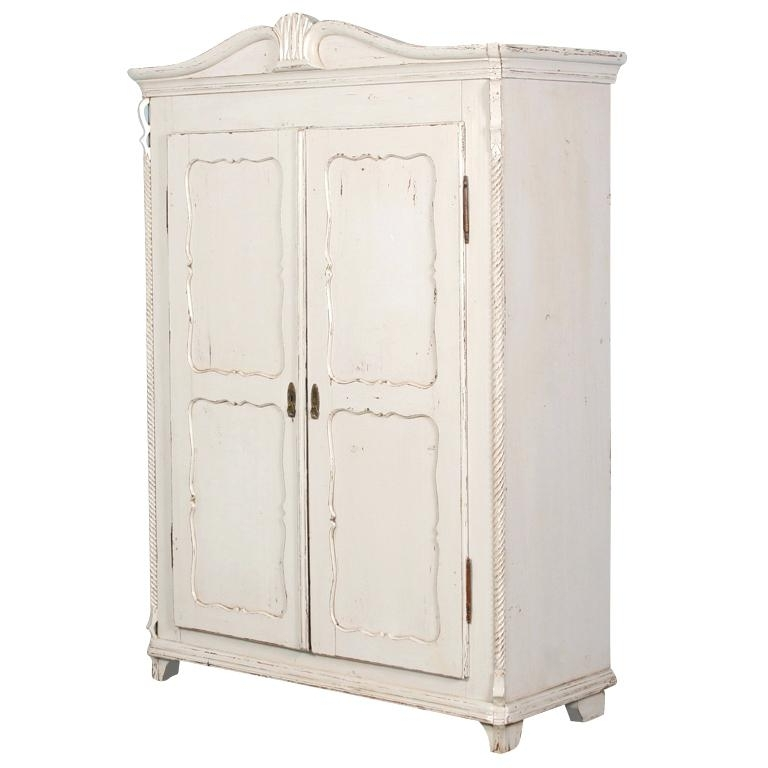 White Vintage Wardrobes Inside Well Known Wardrobes White Armoire Wardrobe  With Mirror Antique Solid Wood (
