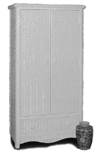 White Wicker Armoire Pertaining To Well Liked White Wicker Wardrobes (View 11 of 15)