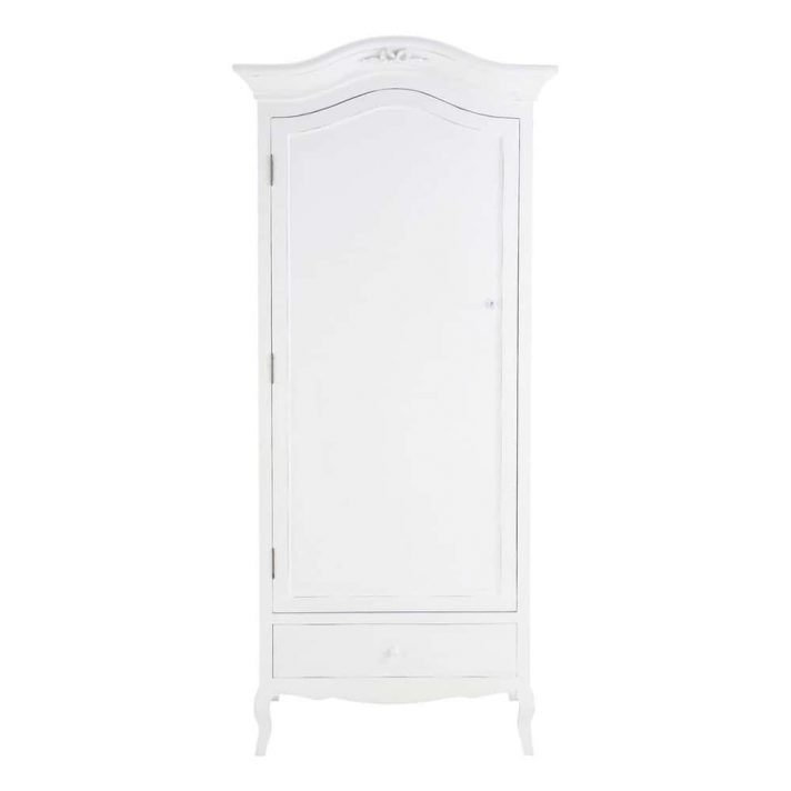 White Wood Double Wardrobe Children's Wooden Free Standing Intended For Newest Cheap Double Wardrobes (View 14 of 15)