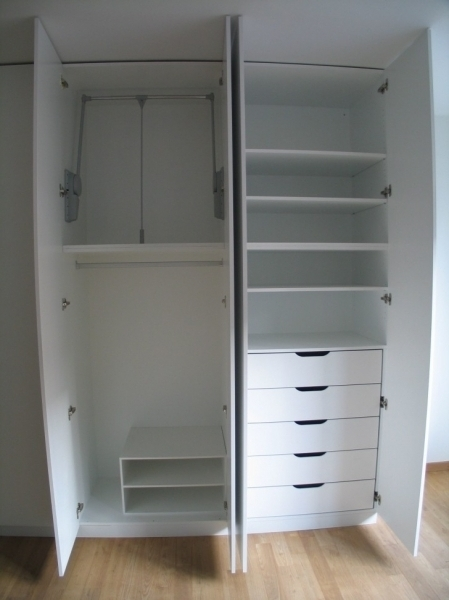 White Wood Wardrobe With Drawers Big And Small Drawers On The High Regarding Best And Newest White Wood Wardrobes With Drawers (View 11 of 15)