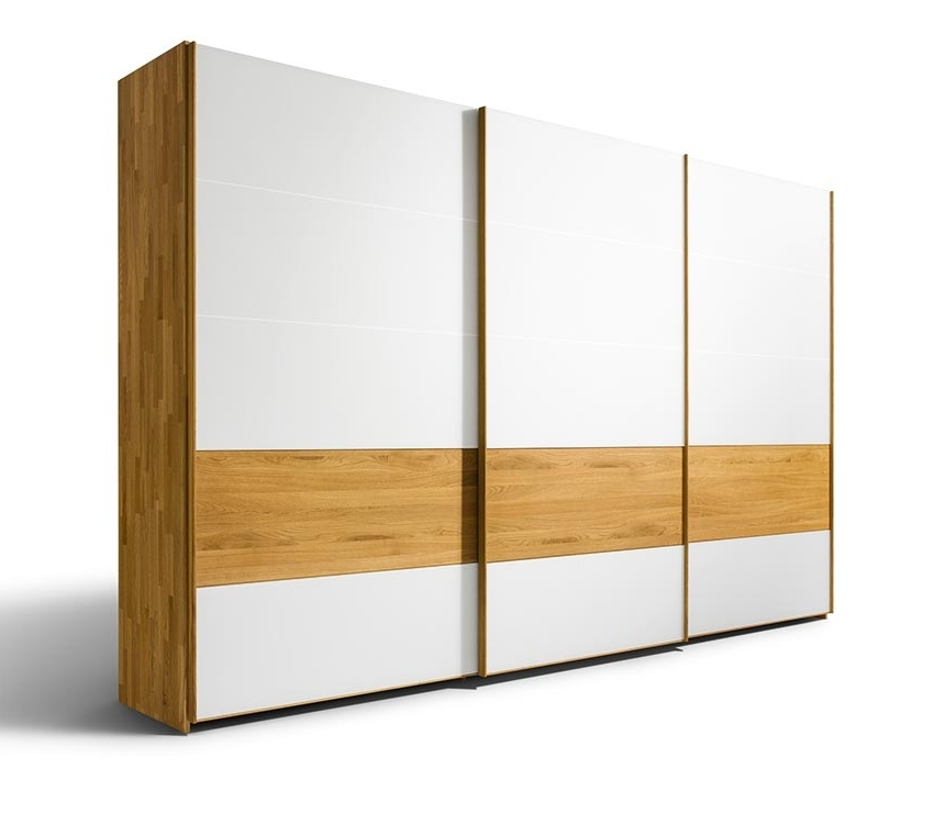 White Wood Wardrobes In Well Liked Luxury Contemporary Solid Wood Wardrobes – Team 7 Lunetto At Wharfside (View 13 of 15)