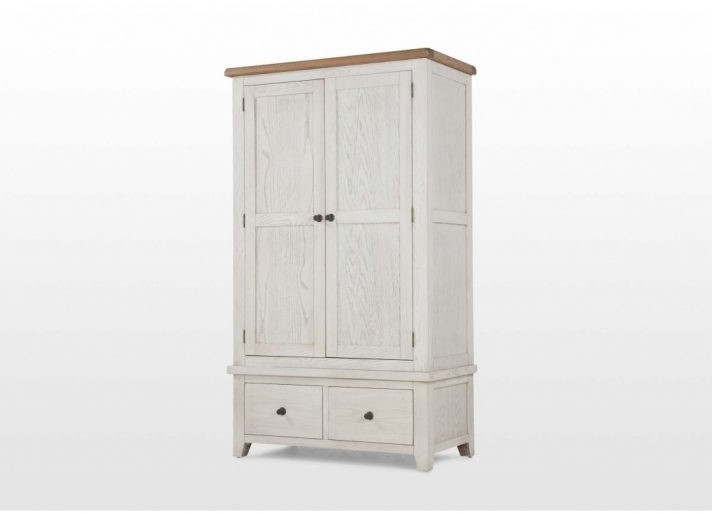 White Wood Wardrobes With Drawers Regarding Newest Large White Wardrobe With Drawers Wooden And Shelves Single This (View 12 of 15)