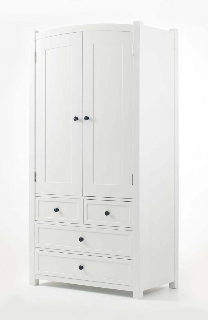 White Wood Wardrobes With Drawers With Regard To Most Recently Released White Wardrobe With Drawers And Shelves Sliding Door Wood (View 5 of 15)