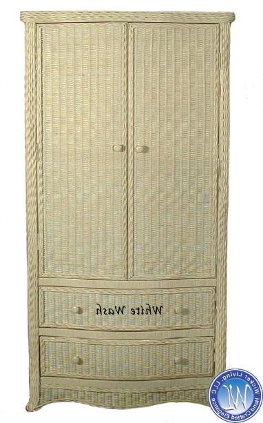 Wicker Armoire Wardrobe (View 11 of 15)